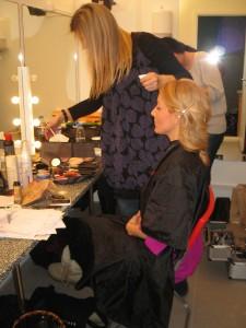 Christina i make-up'en
