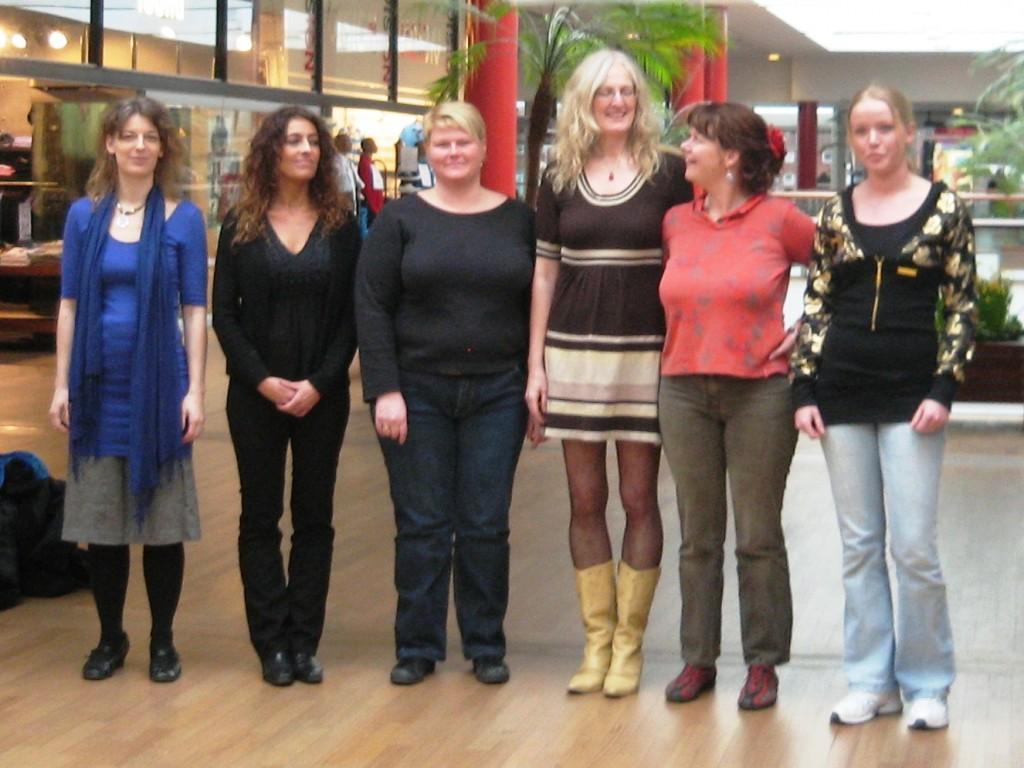 Fra venstre er det kropstype Daisy, Barbara, Frances, Elaine, carmen og Annabel